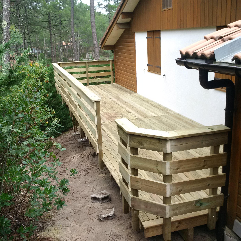 Rambarde terrasse bois castorama diverses for Idee de terrasse en bois