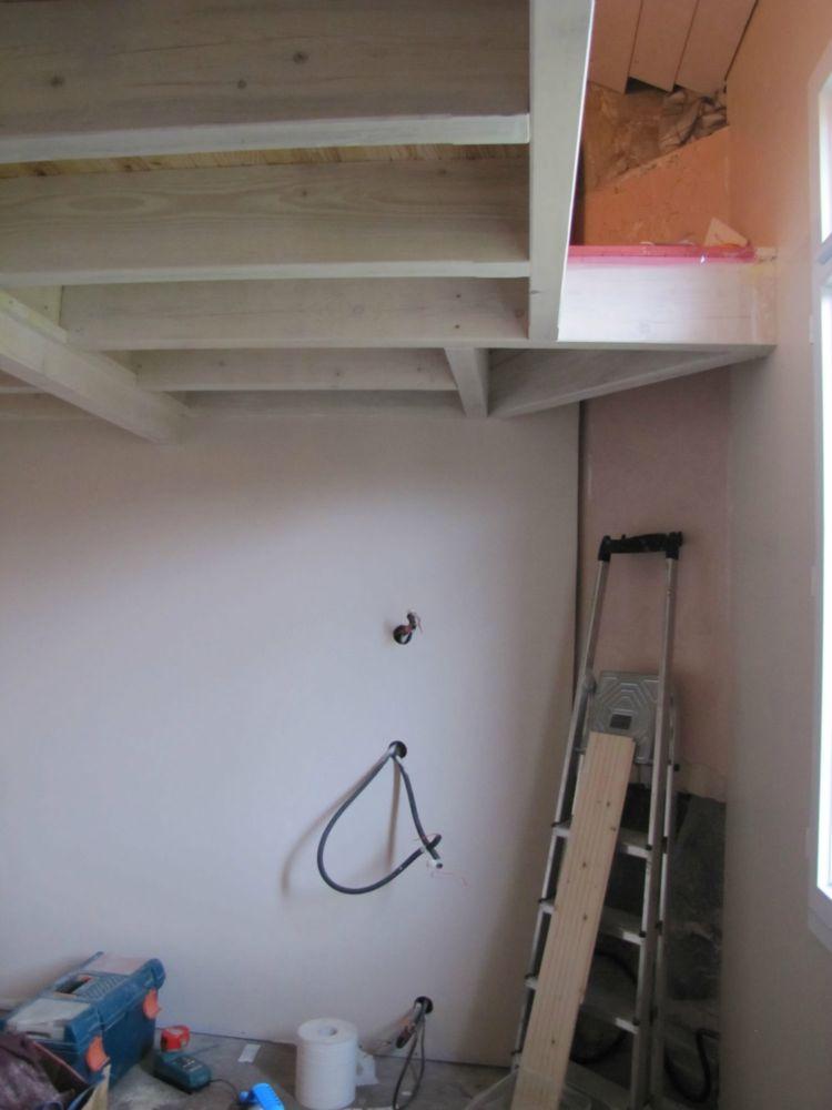 r novation d 39 une chambre mezzanine artisan charpente menuiserie. Black Bedroom Furniture Sets. Home Design Ideas