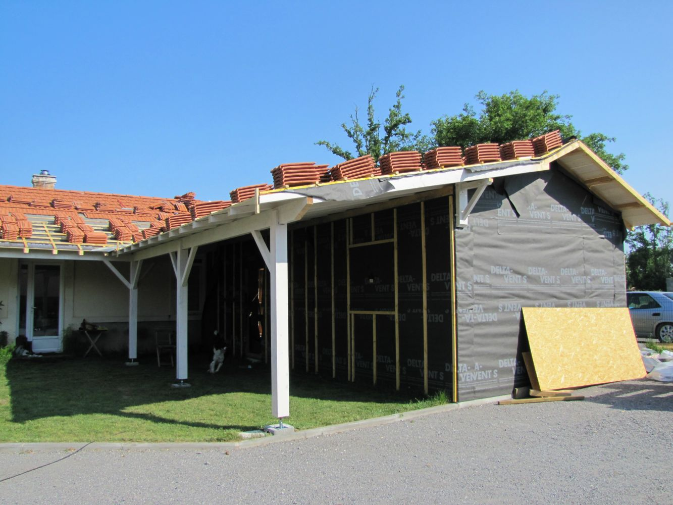 Agrandissement en ossature bois 70m artisan charpente for Agrandissement maison ossature bois