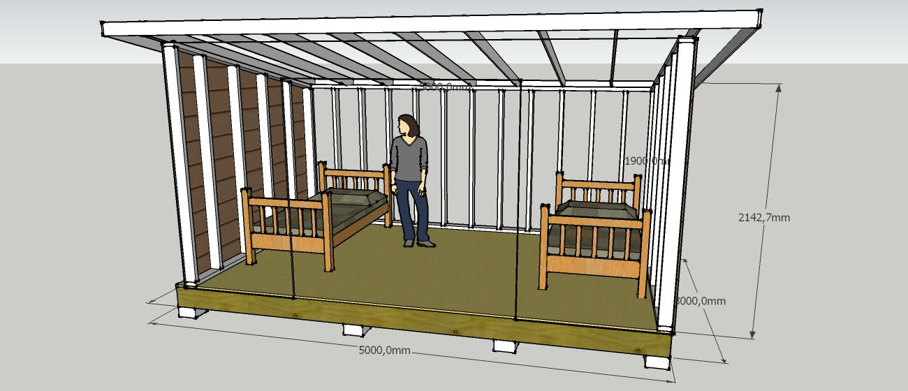 D co abri jardin sur pilotis paris 32 abri bois for Plan de construction table de jardin en bois