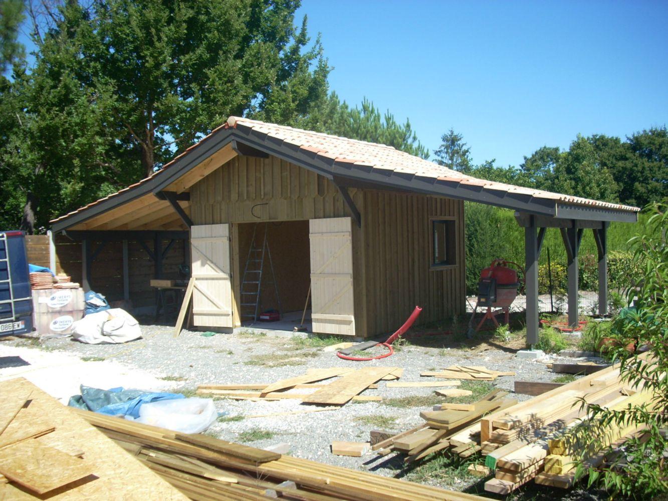 Charpente bois garage obtenez des id es de for Constructeur de garage bois