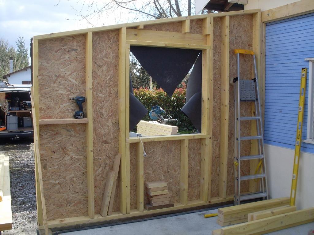 Agrandissement ossature bois audenge 33980 artisan charpente menuiserie for Fabrication bois