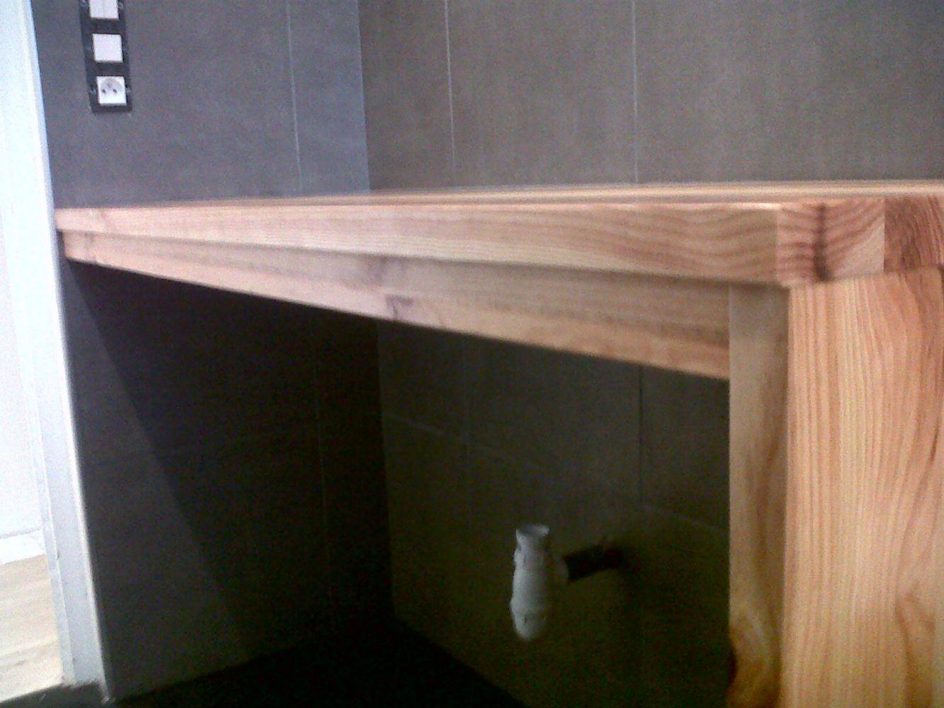 Meuble de salle de bains sur mesure artisan charpente for Meuble de salle de bain sur mesure