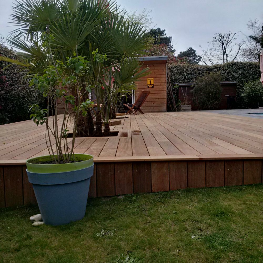 terrasse bois exotique cumaru artisan charpente menuiserie. Black Bedroom Furniture Sets. Home Design Ideas