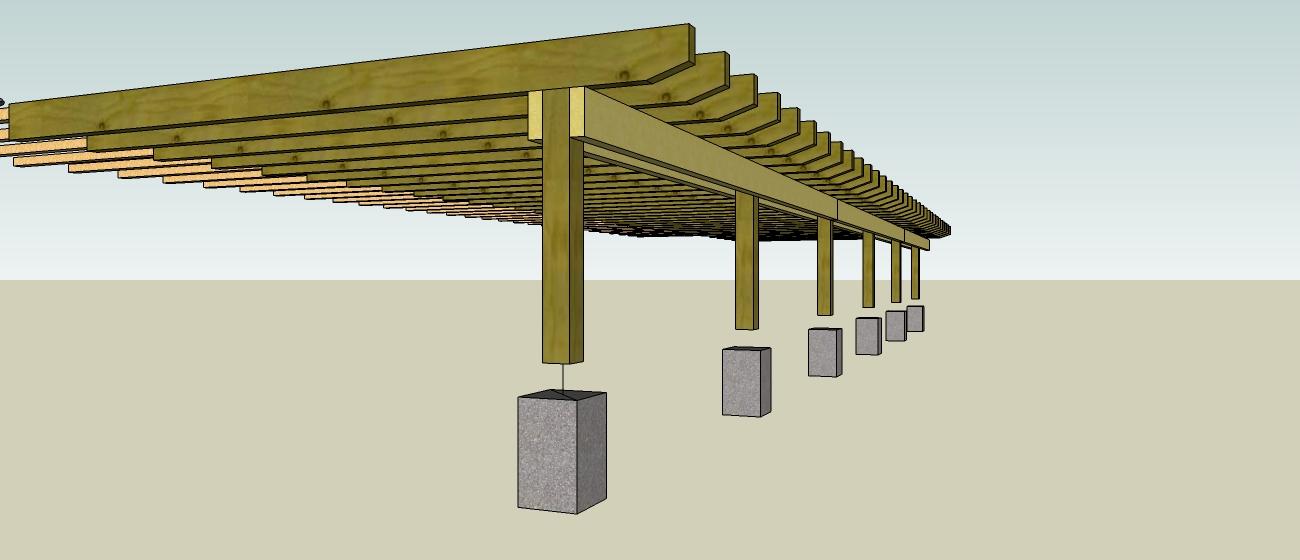Terrasse en ip sur pilotis artisan charpente menuiserie - Terrasse en bois sur pilotis ...