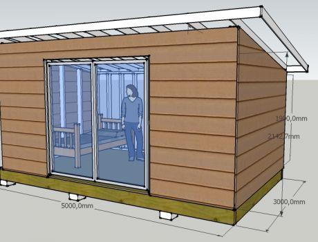 Chalet chambre d 39 amis ossature bois artisan charpente for Chalet en bois a construire