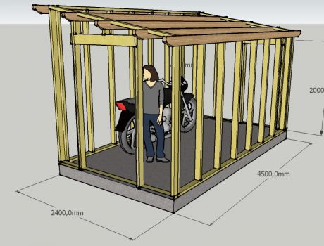 Abri de jardin sur mesure en ossature bois | ARTISAN CHARPENTE ...