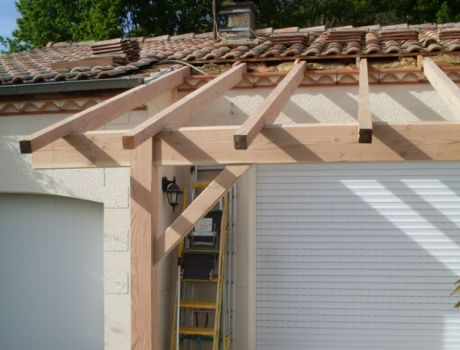 Terrasse couverte Le Porge 33680 | ARTISAN CHARPENTE MENUISERIE